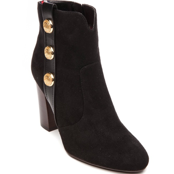 5a640db4d4f4 Tommy Hilfiger Domain Button Booties